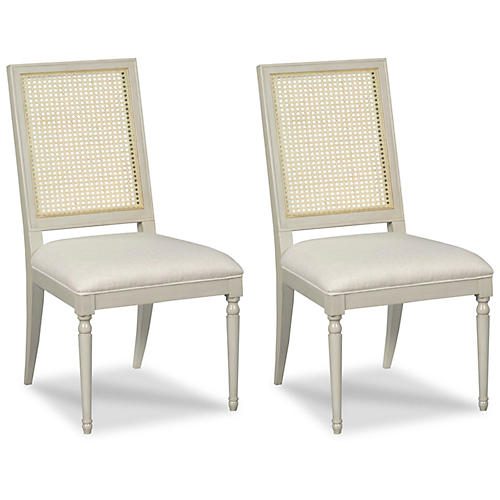 S/2 Millet Side Chairs, Graystone
