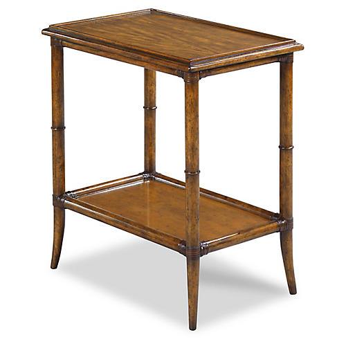 Roanne Side Table, Hazelnut