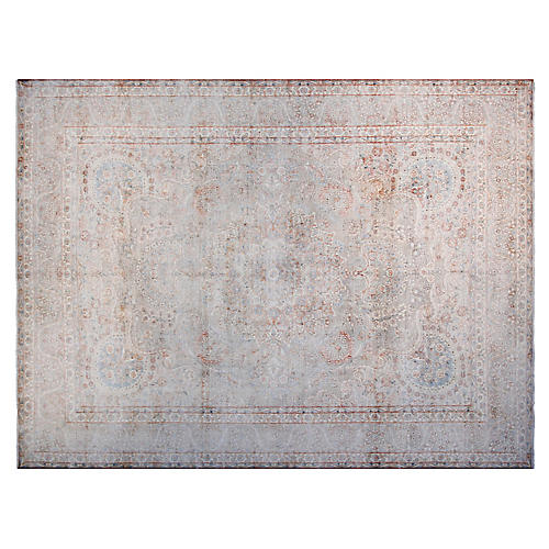 """9'6""""x12'6"""" West Hand-Knotted Rug, Beige"""