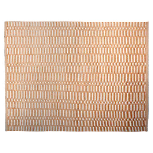 9'x12' Soho Hand-Knotted Rug, Tangerine