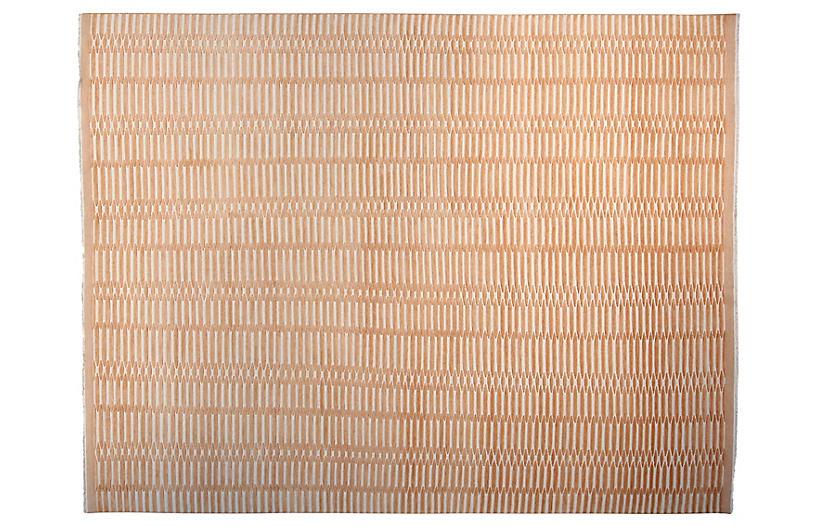 9'x12' Soho Hand-Knotted Rug, Tangerine