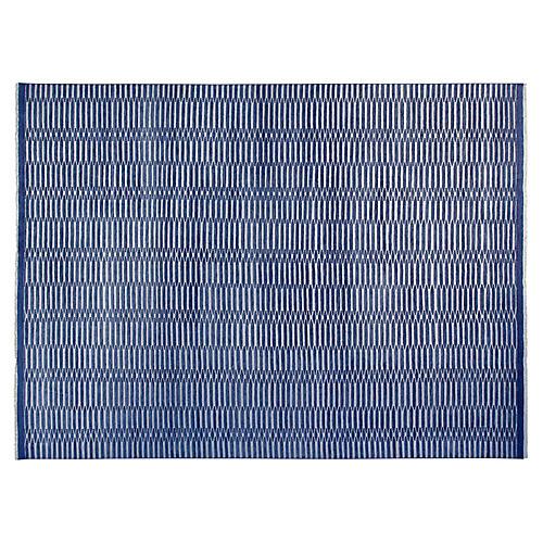 9'x12' Soho Hand-Knotted Rug, Denim Blue