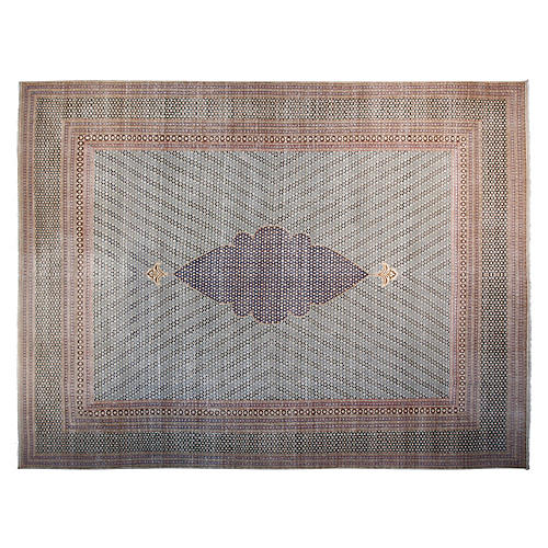 """9'6""""x12'6"""" Cipollini Hand-Knotted Rug, Ivory/Multi"""