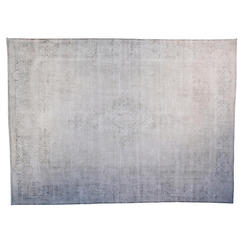 """9'6""""x12'6"""" Faye Hand-Knotted Rug, Ivory"""