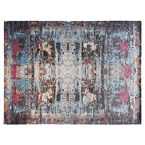9'x12' Avery Hand-Knotted Rug, Gray/Multi