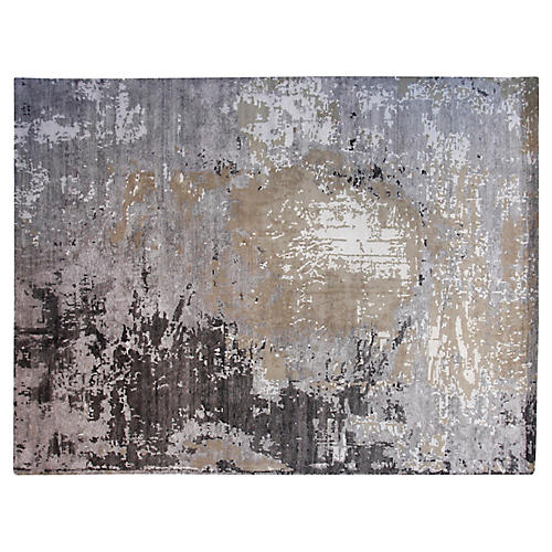 9'x12' Candie Hand-Knotted Rug, Gray/Multi