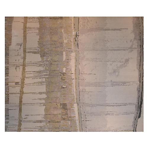 Bidzina Hand-Knotted Rug, Steel/Multi