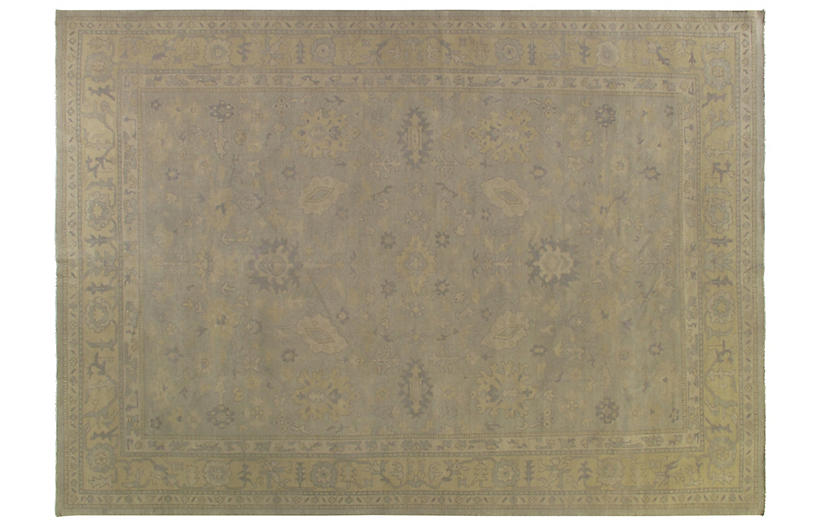 Stanimir Hand-Knotted Rug, Olive
