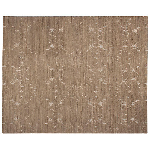 Nadya Hand-Knotted Rug, Tan/Ivory