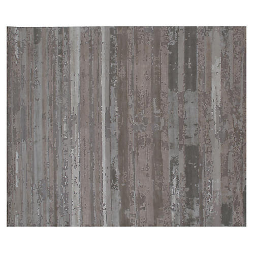 Tarja Hand-Knotted Rug, Gray