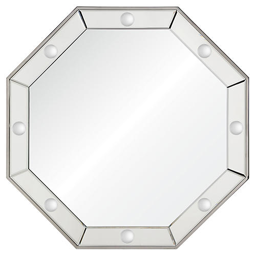 Octavia Wall Mirror, Polished Stainless Steel