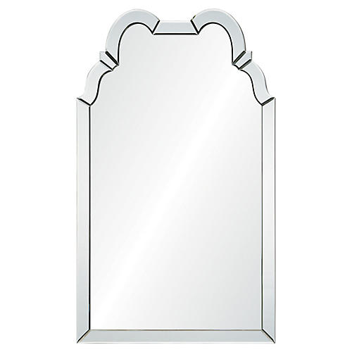 Double Hooded Wall Mirror, Mirrored