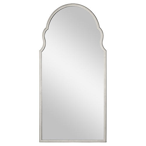 Anna Wall Mirror, Distressed Silver Leaf