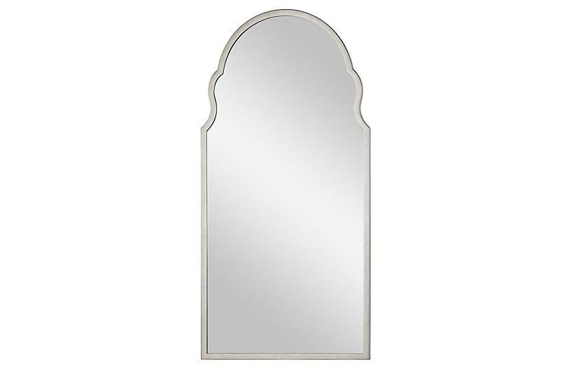 Anna Wall Mirror, Distressed Silver Leaf