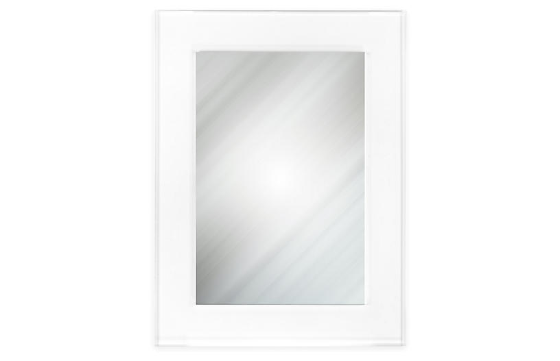 Billie Rectangular Wall Mirror, Clear