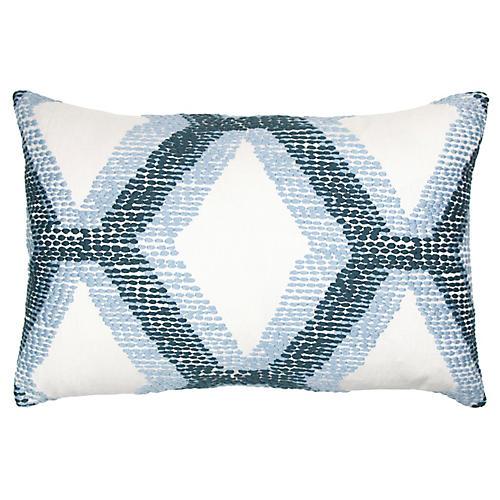 Kandice 14x20 Lumbar Pillow, Blue