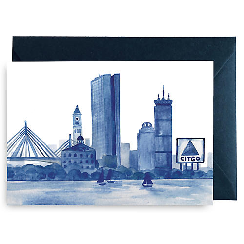 S/8 Boston Watercolor Card Set