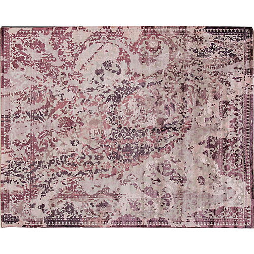 "7'10""x10' Taina Hand-Knotted Rug, Rose"