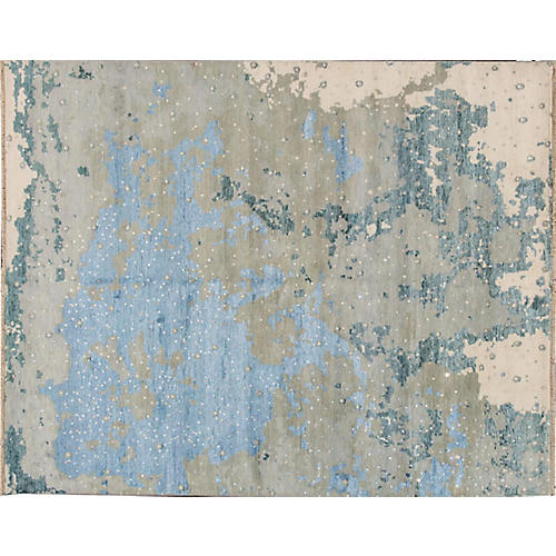 "8'x10'2"" Rupa Hand-Knotted Rug, Sky"