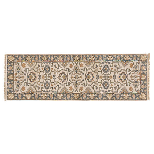 "2'7""x8' Iskra Hand-Knotted Runner, Ivory"