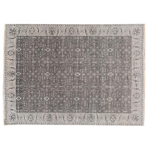 "10'10""x14' Olivette Hand-Knotted Rug, Gray"