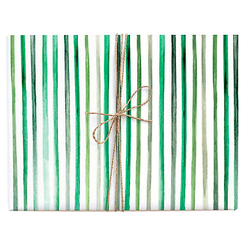 S/3 Stripes Gift Wrap Set