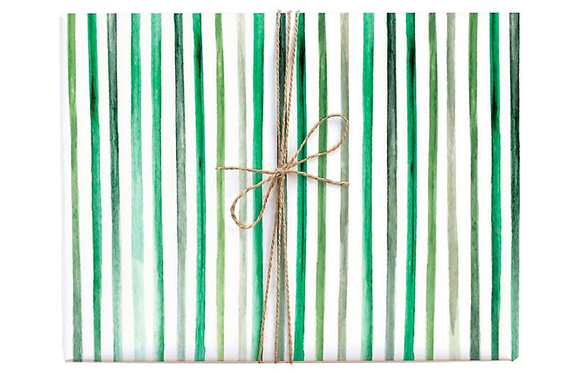 S/3 Stripes Gift Wrap Set