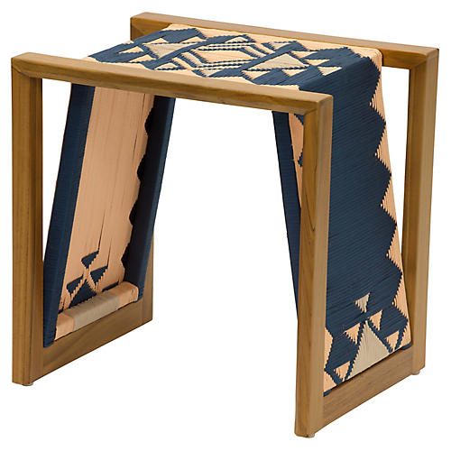 Inverness Side Table, Blue/Multi