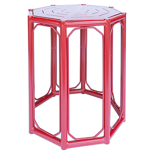Regeant Outdoor Side Table, Red