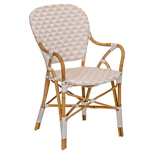 Pinnacles Armchair, White/Blush