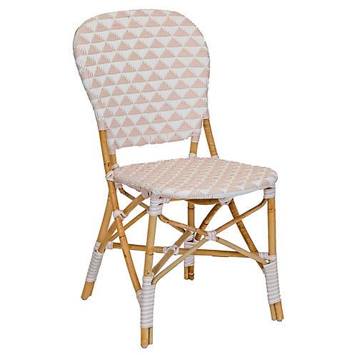 Pinnacles Side Chair, White/Blush
