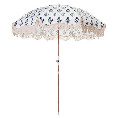 Luna Premium Beach Umbrella, Blue/White