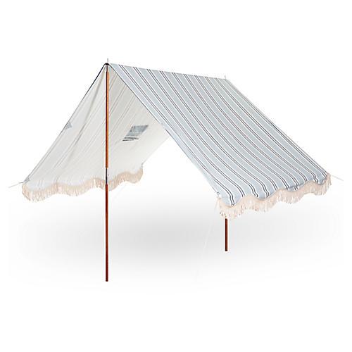 Quincy Premium Stripe Beach Tent, Blue