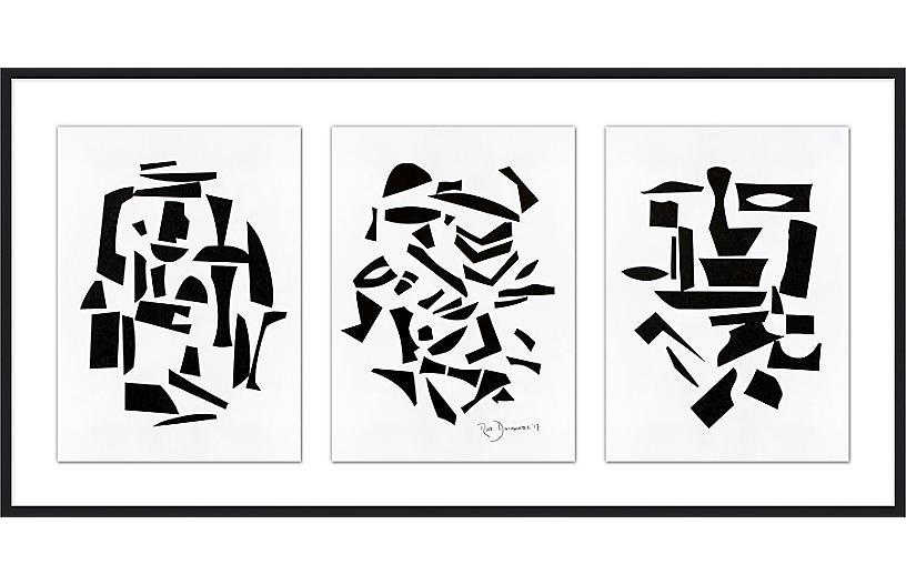 Rob Delamater, Finial Arrangement Triptych