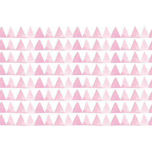Triangle Wallpaper, Pink