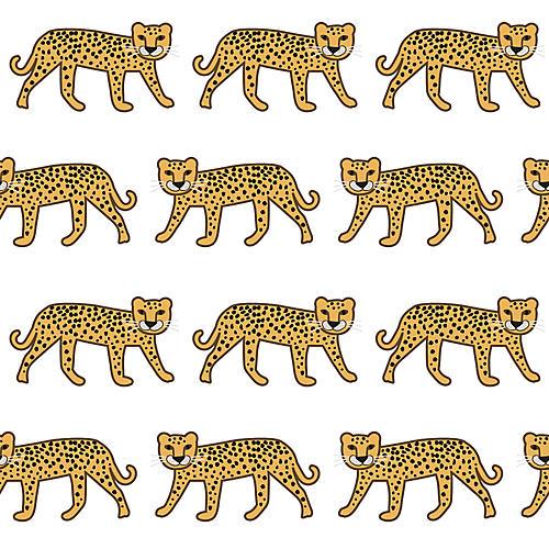 Cheetah Wallpaper, White