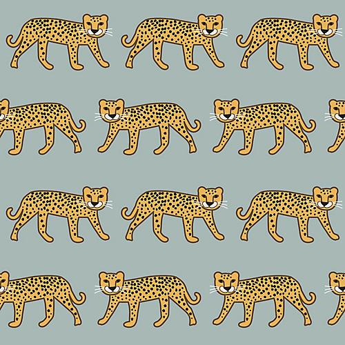 Cheetah Wallpaper, Sage