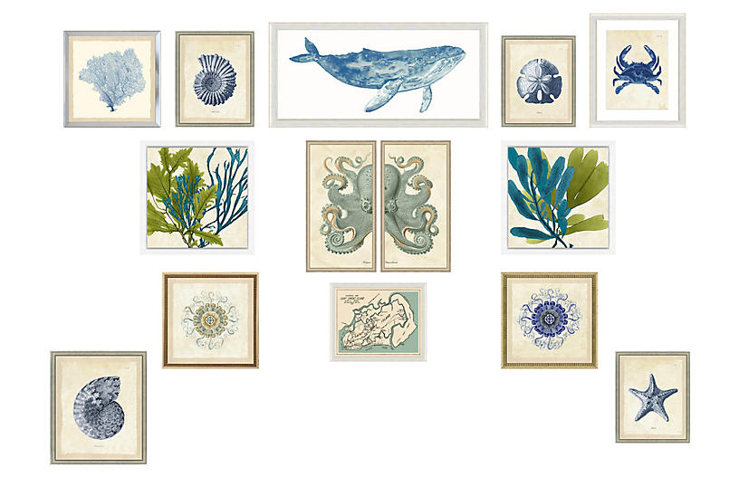 13-Pc Nautical Gallery Wall