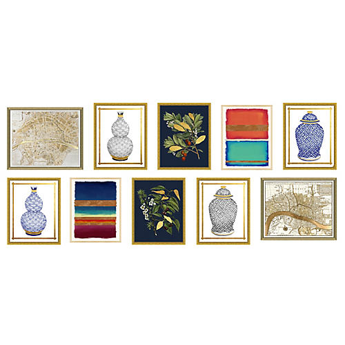 10-Pc Gold Leaf Gallery Wall