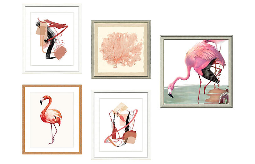 5-Pc Pink Gallery Wall