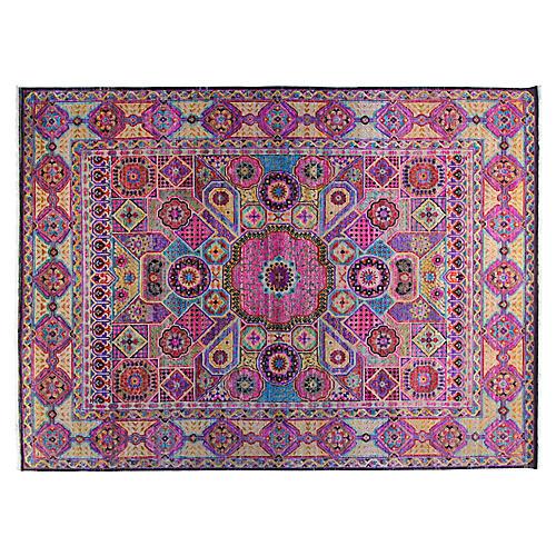 9'x12' Sari Khotan Rug, Pink/Multi