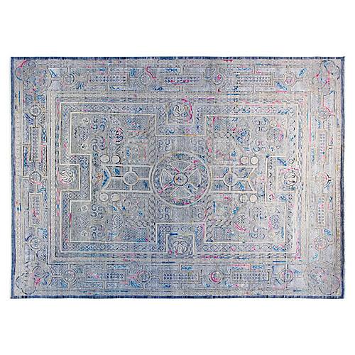 9'x12' Sari Khotan Rug, Gray/Multi