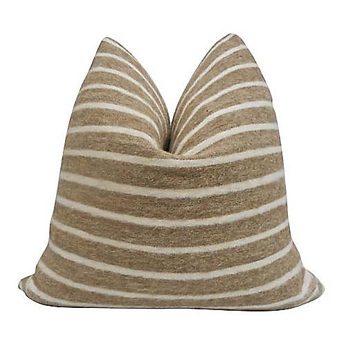 Tracy 24x24 Pillow, Camel/White
