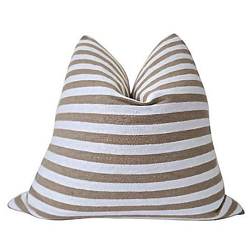 Brianne 24x24 Pillow, Camel/Natural/White