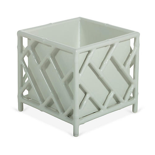 Kit Chippendale Planter, White