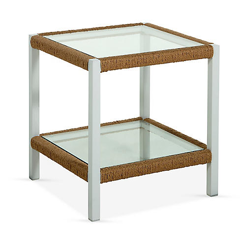 Harper Side Table, Matte White