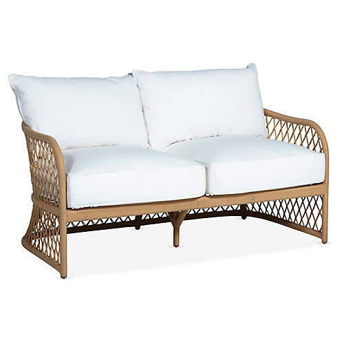 Carmel Loveseat, White