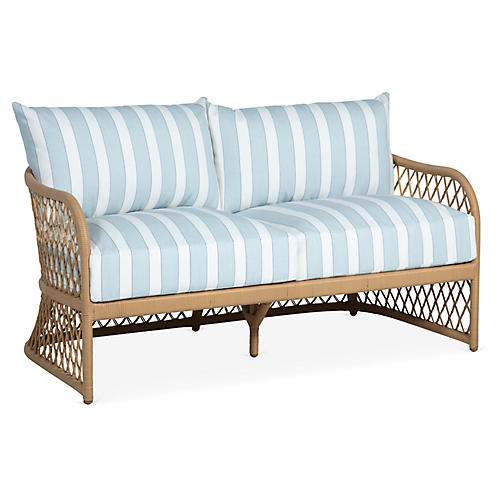 Carmel Loveseat, Sky Blue