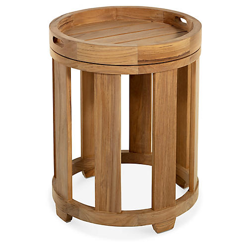Highland Teak Side Table, Natural