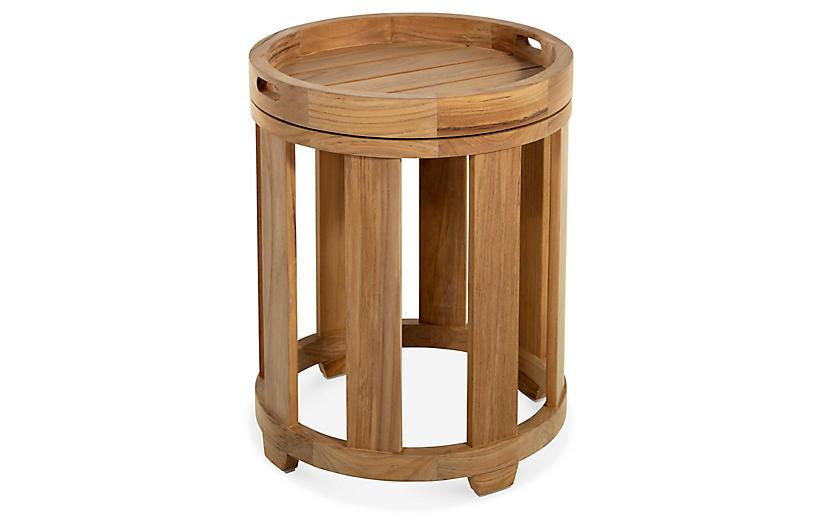 Highland Teak Side Table, Natural